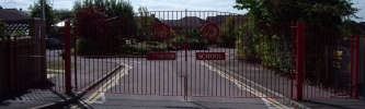 School gates - click to enlarge
